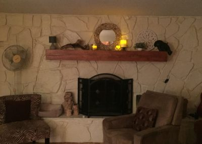 Mantel Decorated 2